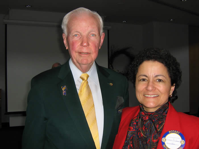 Rotary International Past President Wilf Wilkinson and Dr. Jeanne Beckman